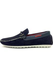 Mocassim Casual Dockside Sapato Social- Jeans Azul
