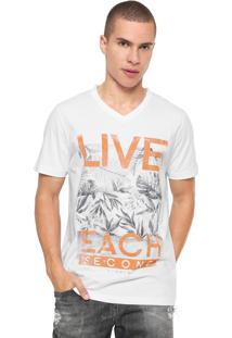Camiseta Sommer Estampada Branca