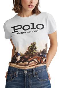 Camiseta Polo Ralph Lauren Logo Branca - Kanui