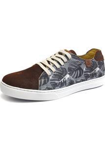 Sapatênis Casual Shoes Grand Estampado Marrom
