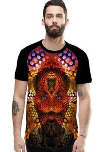 Camiseta Stompy Raglan Modelo 12 Masculina - Masculino-Preto