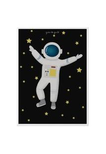 Quadro Astronauta 34Cm Gráo De Gente Azul