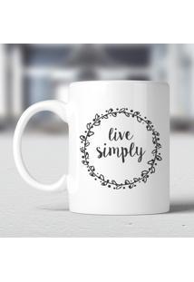 Caneca Live Simply