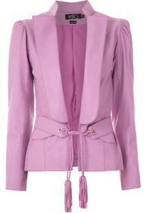 Patbo Blazer Com Amarração - Rosa
