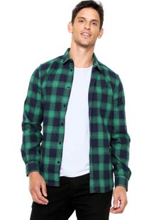 Camisa Forum Xadrez Verde