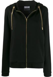 Versace Jeans Couture Cardigan Com Corrente - Preto