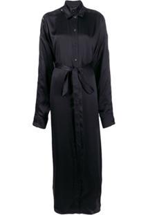 Y/Project Tie Waist Shirt Dress - Preto