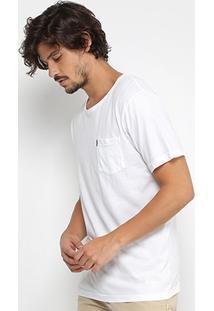 Camiseta Redley Gola Careca Básica Bolso Masculina - Masculino