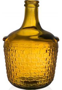 Garrafa Decorativa Em Vidro Laranja Colonial 4 Litros