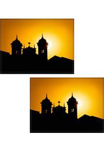 Jogo Americano Colours Creative Photo Decor - Silhueta Ouro Preto, Mg - 2 Peças