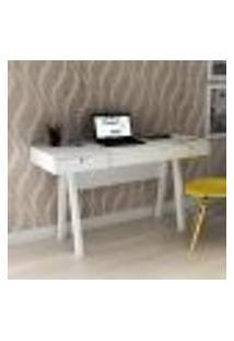 Penteadeira Escrivaninha 2 Gavetas E Divisórias Tecno Mobili - Branco