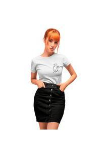 Camiseta Feminina Mirat Poesia Branca