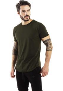 Camiseta Brohood Longline Curve Verde Militar