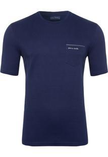 Camiseta Royal Escuro Com Bolso