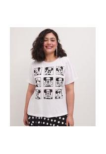 Blusa Minnie Com Mangas Bufantes Curve & Plus Size   Ashua Curve E Plus Size   Branco   Eg