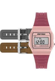 Relógio Digital Vintage Mojh02Be/T8J Mormaii Feminino - Feminino-Bege