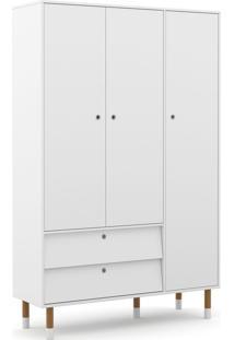 Roupeiro 3 Portas Up Branco Soft/Eco Wood Matic Móveis