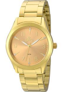 Zattini. Relógio Dourado Feminino Technos Allora Vidro Manual ... 12abd1f892
