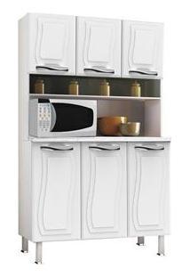 Cristaleira Colormaq Ipanema Top Com 6 Portas - Branca