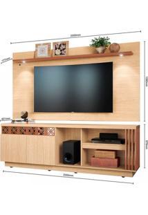 Rack Com Painel Para Tv Até 65 Polegadas 2 Portas Com Espelho Astúrias Colibri Móveis