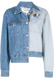 Monse Jaqueta Jeans Bicolor - Azul