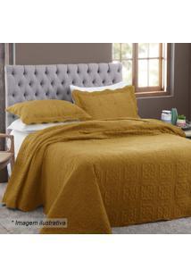 Conjunto De Colcha New Everyday Marrocos Casal- Amarelo