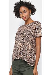 Camiseta My Favorite Thing Mullet Tigre Feminina - Feminino-Preto+Marrom