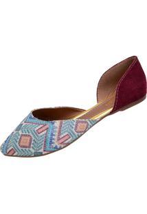 Sapato Grã Duquesa 188 Vinho Estampado