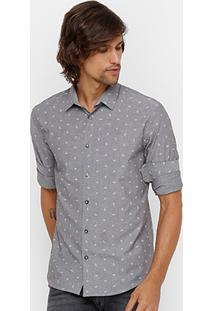 Camisa Colcci Mini Print Masculina - Masculino