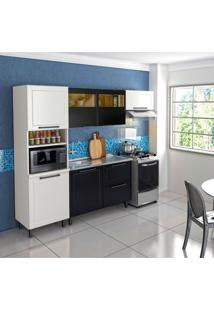 Cozinha Compacta Black&White I 6 Pt 2 Gv Branca E Preta