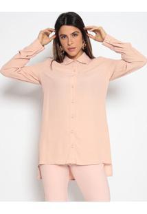 Camisa Alongada Lisa- Rosãªenna