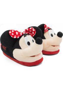 Pantufa Ricsen Minnie Mouse Feminina - Feminino-Preto
