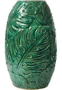 Vaso Decorativo De Cerâmica Folha M