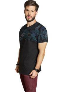 Camiseta Surf.Com Flores Masculina - Masculino