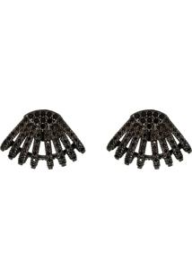 Brinco Infine Concha Ear Cuff Preto