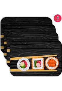 Jogo Americano Love Decor Wevans Sushi Kit Com 4 Pçs