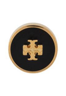 Tory Burch Par De Brincos Com Logo - Dourado