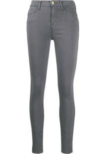 Frame Le High Skinny Jeans - Cinza