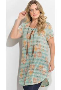 Blusa Alongada Mix De Estampas Plus Size