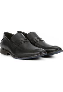 Sapato Social Couro Ferricelli Prius - Masculino-Preto