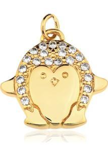 Pingente Toque De Joia Pinguim Dourado