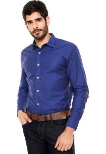 Camisa Wrangler Premium Azul-Marinho