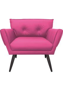 Poltrona Anitta Corino Pink Pã©S Palito De Ferro D'Rossi - Rosa - Dafiti