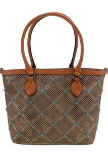 Bolsa Feminina Arara Dourada - Lt8147 Taupe