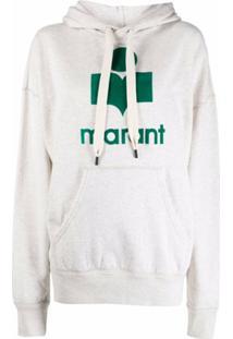 Isabel Marant Étoile Logo Drawstring Hoodie - Cinza