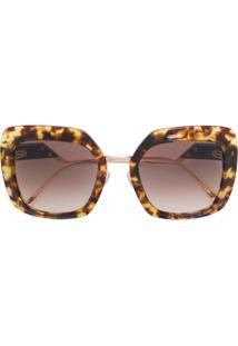 0599708a3a952 R  2446,00. Farfetch Óculos De Sol Marrom Feminino Fendi ...