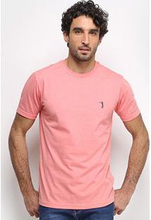 Camiseta Aleatory Masculino Básica Lisa Masculina - Masculino-Laranja
