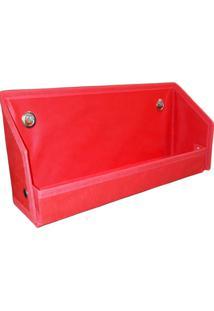 Prateleira Organibox Porta Livro Vermelha