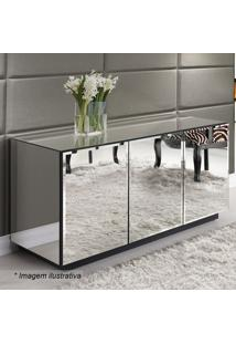 Balcão Reflex Bisotê- Espelhado- 78X135X48Cm- Rgrg Móveis