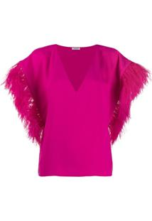 P.A.R.O.S.H. Blusa Oversized Mangas Longas - Rosa